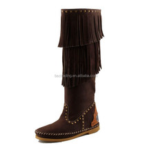 2016 Latest Women Fashionable Best Quality Small Moq Women 100% Ladies Leather Boots