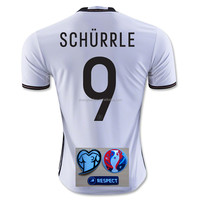 Germany Euro Soccer Jersey /2016 SCHURRLE Euro Home Soccer Jersey