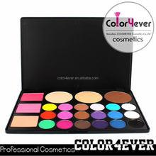 Wholesale hot sale 24 colors professional makeup Eyeshadow face powder blusher Palette 78 eye shadow palette