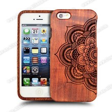 Ocase 2015 Own Design Engraved Custom Natural Wooden for iphone 6 case