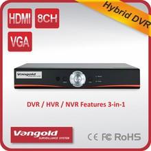 1080p híbrido dvr con hvr/nvr/dvr todo en una grabadora