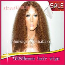 Nuevos Productos para bebés 2013 100% Indian Remy Human Hair Wigs hacen en China