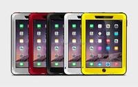 for iPad Air 2 Cover LOVE MEI Waterproof Metal Aluminium Case for iPad Air 2 Gorilla Glass Hybrid Case for iPad Air 2