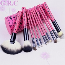 cosmetic brushes Wood handle go pro makeup brush powder brush