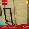 cheapest super light white travertine marble