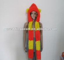 2012 COLORFUL WINTER LONG FUR HAT ANIMAL EARS WITH PAWS