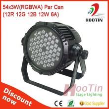 Hot Selling 54*3W LED Par Light 4in1 DMX512 LED Par 64