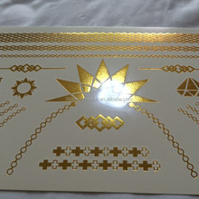tattoo stickers gold silver temporary tattoo stencils suppliers