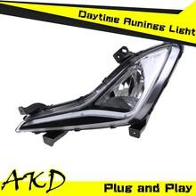 AKD Car Styling Hyundai Elantra LED DRL New Elantra LED DRL 2014-2015 LED Daytime Running Light Good Quality LED Fog lamp