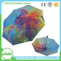 21 inches x 8K 3 fold personalized umbrellas promotional rain umbrellas for sale