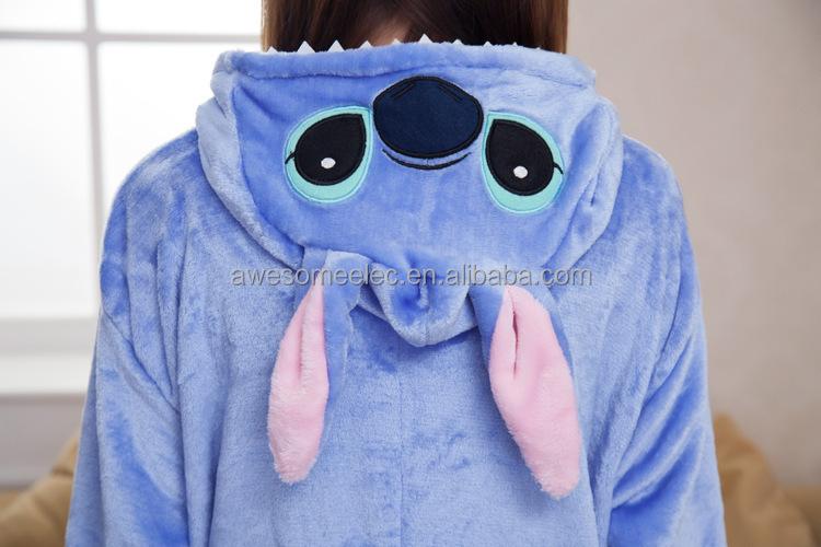 (Niedrigsten Preis) Cosplay Unisex Pyjamas onesie Erwachsene Blau Stich Neue Pyjamas Anime