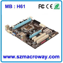H61, Intel CPU based Motherboard, DDR3 LGA 1155 Socket Motherboard, New Intel DDR3 Motherboard Price