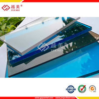 SGS ISO Approve Ten Years Guarantee UV Protection Colored Solid/Hollow Polycarbonate Roofing Sheet Manufacturers
