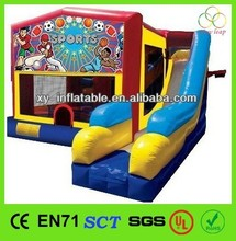 2015 art panel combo slide bouncers inflatables for sale