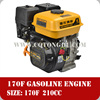 170F engine 4 stroke,single cylinder 6.5hp air cooled gasoline engine price made in China