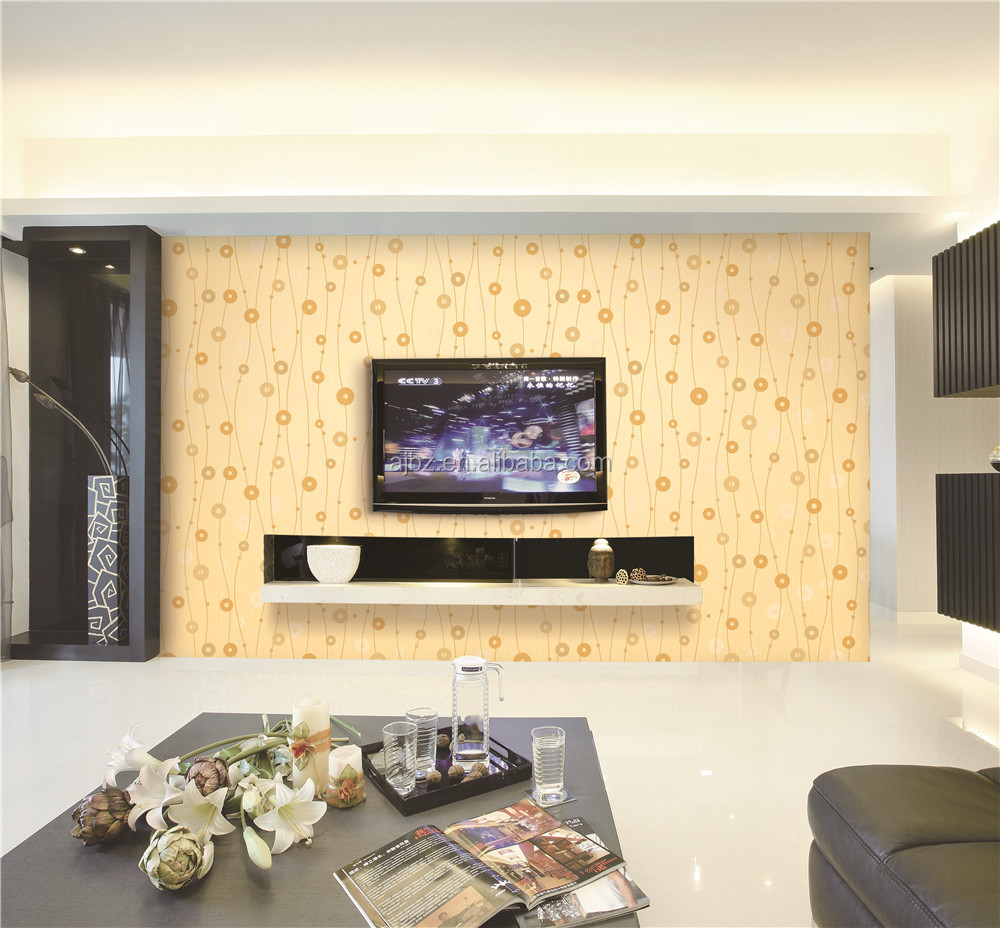 Modern pvc wallpaper for home decoration buy waterproof for Home wallpaper removal solution