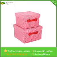 PP braid storage box / storage basket , with liner with PVC handles
