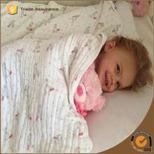 Fashion fabric cotton muslin baby swaddle blanket