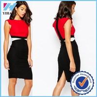 Yihao 2015 Women fashion new desigh Vesper tight work casual Pencil formal Dress