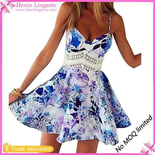 Corto vestido de la playa del verano caliente vestido para mujer madura Alibaba Made In China