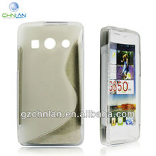 Made in China cell phone case for Huawei Ascend G350 gel caes S wave tpu case,Paypal accept