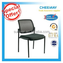 fabric low back four leg chrome nylon cheap visitor meeting room office chair / visitor chair / conference chair