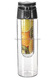 Black BAP-FREE water/fruit infuser bottle of new design