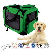 Green Colour Oxford Fabric Dog Crate