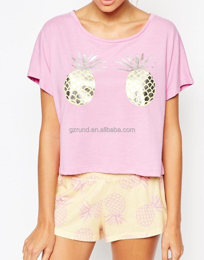 Women o neck t shirts cotton t shirt ladies 100 cotton for Printed t shirts wholesale
