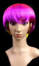 2015 New design top fashion 100% synthetic hair ombre short bob style party wigs