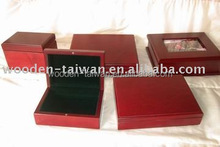 wooden photo velvet box