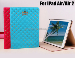 Superior Quality Universial Crown Design PU Leather Case for iPad Air/Air 2/Mini 2/3 with Stand