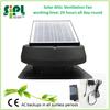 Solar power solar roof exhaust fan