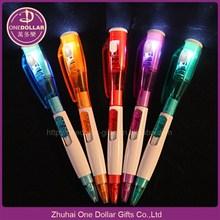 Led torch ballpoint pen