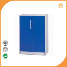 Blue Modern popular swing door filing cabinet office furniture with stain steeless knob