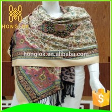 Different style 100% frauen silk scarf shawl pashimina