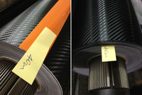 Gloss Self Adhesive Carbon Fiber Vinyl Roll Auto Car Sticker Carbon Fiber Wrap