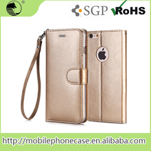 Mobile phone accessories factory in china blank leather flip phone case for iPhone 6S