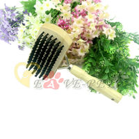 D1026 Fashion Design Dog Cat Grooming Shedding Hair Tool Brush Comb Professional Pet Rakes Wood Dog Brush Supplier
