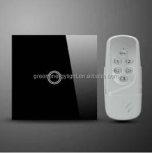 IOS and Android phone wifi controlled light switch touch panel 220v RF315/433 mhZ 3 gang 2gang 1agng wireless touch switch