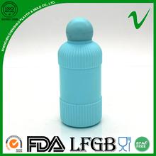 100 ml plastique HDPE corps en forme de parfum bouteilles avec bouchon de conception