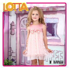 Hight quality fashion kids party wear lace flower girl dress of 9 years old