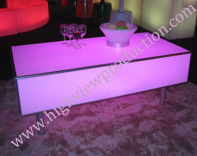 lumineux led de table table de cocktail fin de table table manger table basse. Black Bedroom Furniture Sets. Home Design Ideas