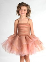 brown organza girls party dresses latest dress designs children clothes