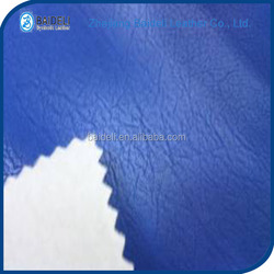 novel design high quality pvc polyester fabric leather for sofa