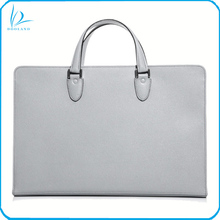 Custom production unisex 15 inch laptop briefcase mens genuine leather briefcase business bag