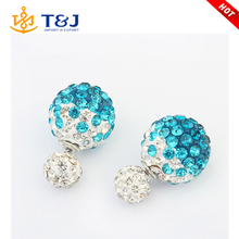 s>>>>Christmas Wholesale Hot Sell Fashion Jewelry Gold Plated 4 Color Pearl Ball Stud Earring For Women/