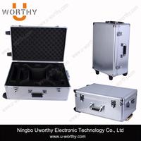 Beauty Case Aluminum Moving Trolley Case Professional Beauty Box Makeup Vanity Case