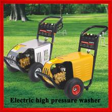 80-250 bar electric motor driving high pressure washer, electric start high pressure water washer