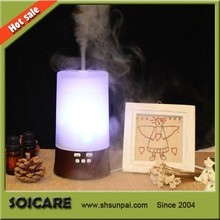 SOICARE glass music electric essential oil diffuser with real wood base